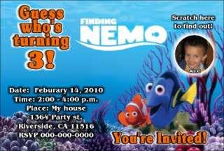 Finding Nemo Photo Birthday Party Invitation Printebay Birthday