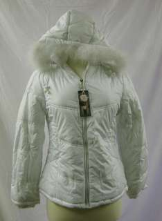 Palomares Fashion of Calif Poly Fill Coat with Zip Off Fur Lined Hood
