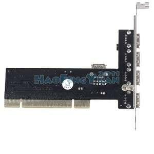 VIA USB 2.0 5 Port HUB High Speed 480Mbps PCI CARD C