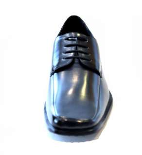 BLACK LEATHER DRESS SHOE LACE UP OXFORD MEN
