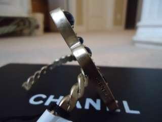 * Chanel GOLD SWAROVSKI CRYSTAL BIRD CUFF/BRACELET *OVAL STAMP* 07A