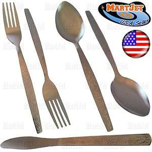Stainless Steel Flatware Spoons Forks Knife Tableware Cutlery Dining