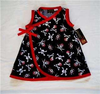 Pirate Skulls Punk Gothic baby girl dress kids clothes