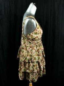 NEW womens brown floral FREEWAY boutique tunic dress L