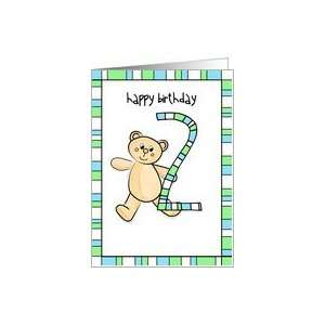 2nd Birthday teddy bear Card Toys & Games
