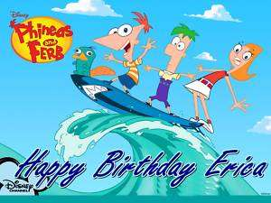 PHINEAS AND FERB Frosting Sheet Edible Cake Topper |