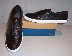 Keds Womens Black Sparkle CH Glitter Slip On SO Shoes Size 8.5 or 9.5