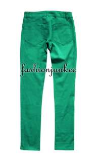 MINT GREEN NSP103 Skinny Jeans Moleton Colored Denim Stretch Jeggings