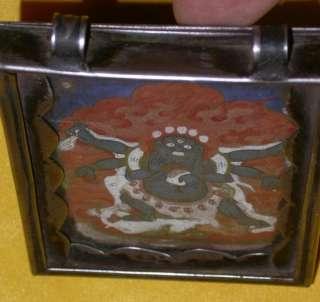 Rare Old Antique Unique Tibetan Buddhist Gau Shrine Box Niche