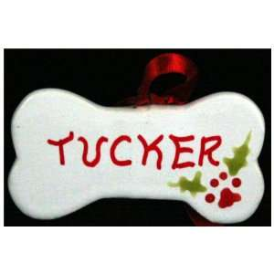 Personalized Dog Bone Ornament, hand painted in USA with