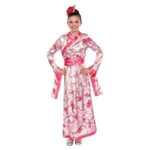 Cherry Blossom Princess Geisha Girl Costume Child Flower Pink Japanese