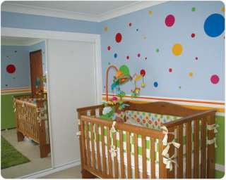100 Polka Dots 4 Color Vinyl/Stickers Wall Decal Decor