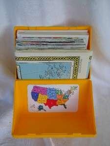 1986 Close UP USA National Geographic Map Set Vintage