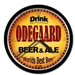 ODEGAARD beer and ale cerveza wall clock: Everything Else