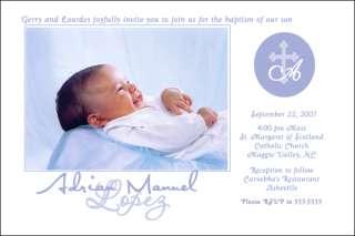 Baptism PHOTO Invitations BOY   YOU PRINT Hi Res File