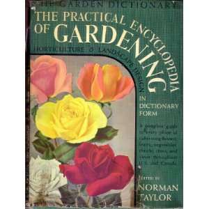 and Landscape Design in Dictionary Form: Norman Taylor: Books