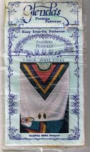 Iron on Pattern Glendas V Neck Jewel Tones for Shirt