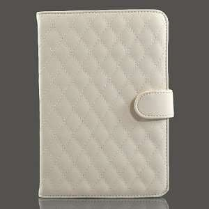 White / PU Leather Flip Case for Galaxy Tab GT P6800