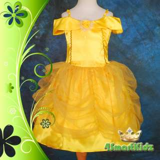 Girl Belle Princess Costume Party Fancy Dress Up Size 8