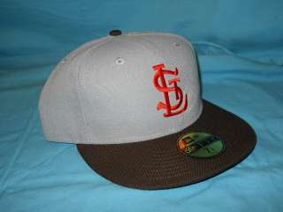 ST. LOUIS BROWNS ORIOLES GREY NEW ERA FITTED HAT 7 7/8