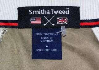 Smith&Tweed Mens Tan Pullover Wind Golf Shirt Jacket L