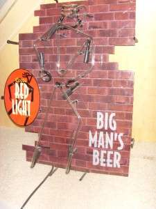 COORS BAR NEON RED LIGHT BIG MANS BEER BAR LIGHT |