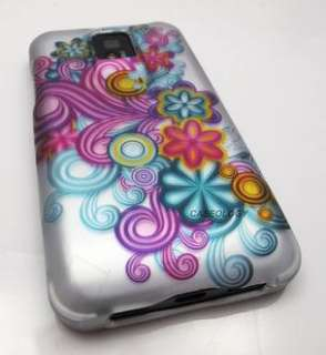 FUNKY WILD FLOWER WAVES HARD SHELL CASE COVER LG T MOBILE G2X PHONE
