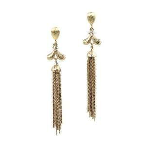 Ball Wives Celebrity Style Paparazzi Dangle Earrings Gold Tone Chains