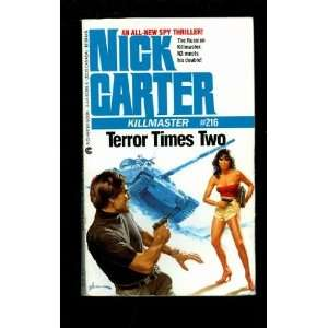 com Terror Times Two (Killmaster) (9780441572854) Nick Carter Books