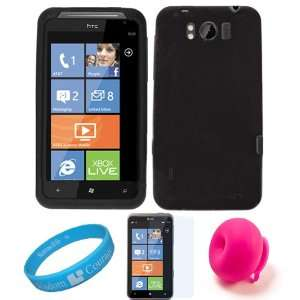 Black Smooth Rubber Soft Silicone Protective Skin Cover