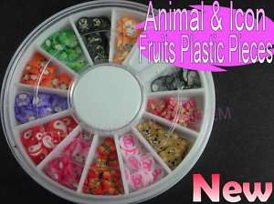 Nail Art 3D Fimo Decals Bear,Cute Animal,Cat & Icon