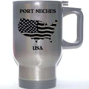 US Flag   Port Neches, Texas (TX) Stainless Steel Mug