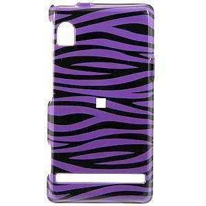 Icella FS MOSHOLES D23 Purple Black Zebra Snap on Cover for Motorola