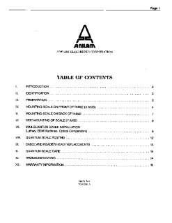 Anilam DRO Quantum Scale Installation Manual