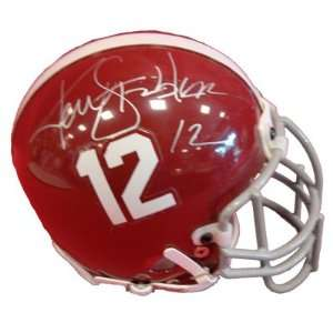 Ken Stabler Signed Mini Helmet Alabama Crimson Tide