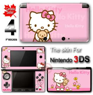 Hello Kitty Pink SKIN COVER STICKER #1 for Nintendo 3DS