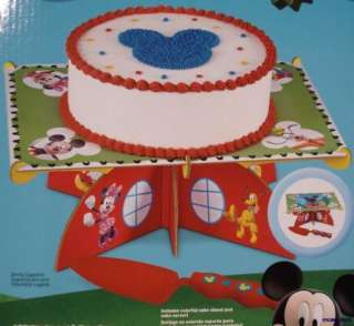 Wilton Cake Stand W/Serving Knife Disney Mickey Mouse Club Birthday