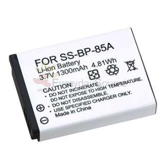 2pk For Samsung WB210 Camera BP 85A High Capacity Battery 3.7V 1300mAh