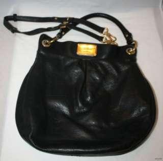Auth.Marc Marc Jacobs Classic Q Hillier Hobo Black Cross Body Handbag