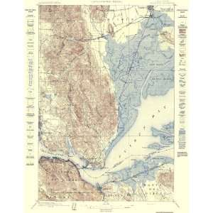 USGS TOPO MAP CARQUINEZ STRAIGHT CALIFORNIA (CA) 1898