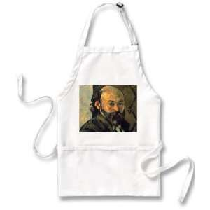 Self Portrait In Front Of Wallpaper By Paul Cezanne Apron