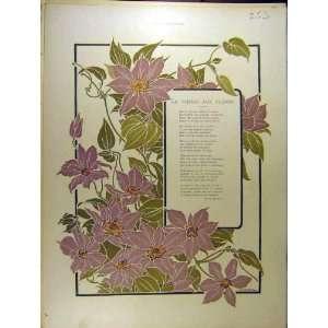 1901 La Vierge Aux Fleurs Verse Poem Dumas French Print
