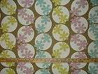 OOOPS A DAISY FLOWERS CIRCLES RETRO COTTON UPHOLSTERY FABRIC