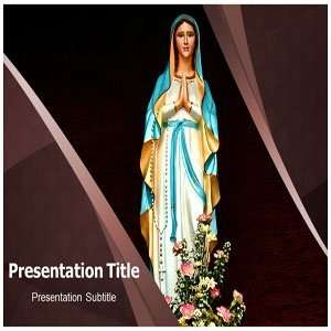 Jesus Mother PowerPoint Templates   Background On Jesus Mother