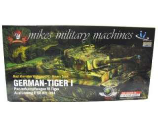 JSI ULTIMATE XD 1/18th GERMAN NORMANDY TIGER 1 TANK SOLDIER MODEL MINT