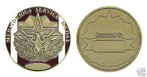 MERITORIOUS SERVICE MEDAL MILITARY CHALLENGE COIN