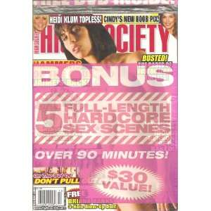 High Society Magazine Holiday 2008 with Free Bonus D.V.D.: High