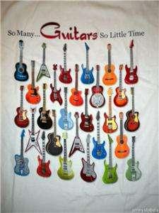 NWT Mens GUITARS So ManySo Little Time s/s SHIRT
