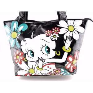 Classic Beauty Queen Betty Boop Large Tote Bag in Black