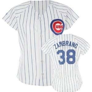 Carlos Zambrano Majestic Replica Chicago Cubs Womens